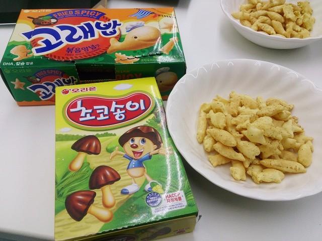 韓国のお菓子(日本のパクリ)