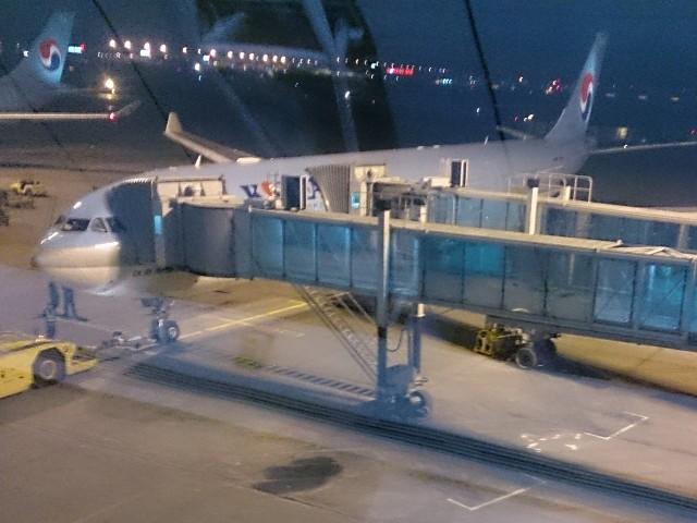 大韓航空でソウルからコロンボへ