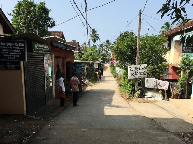 スリランカの田舎道