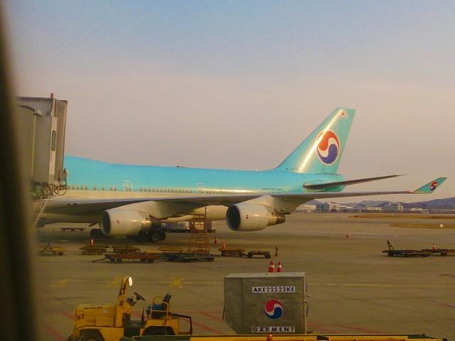 大韓航空でスリランカを離れる